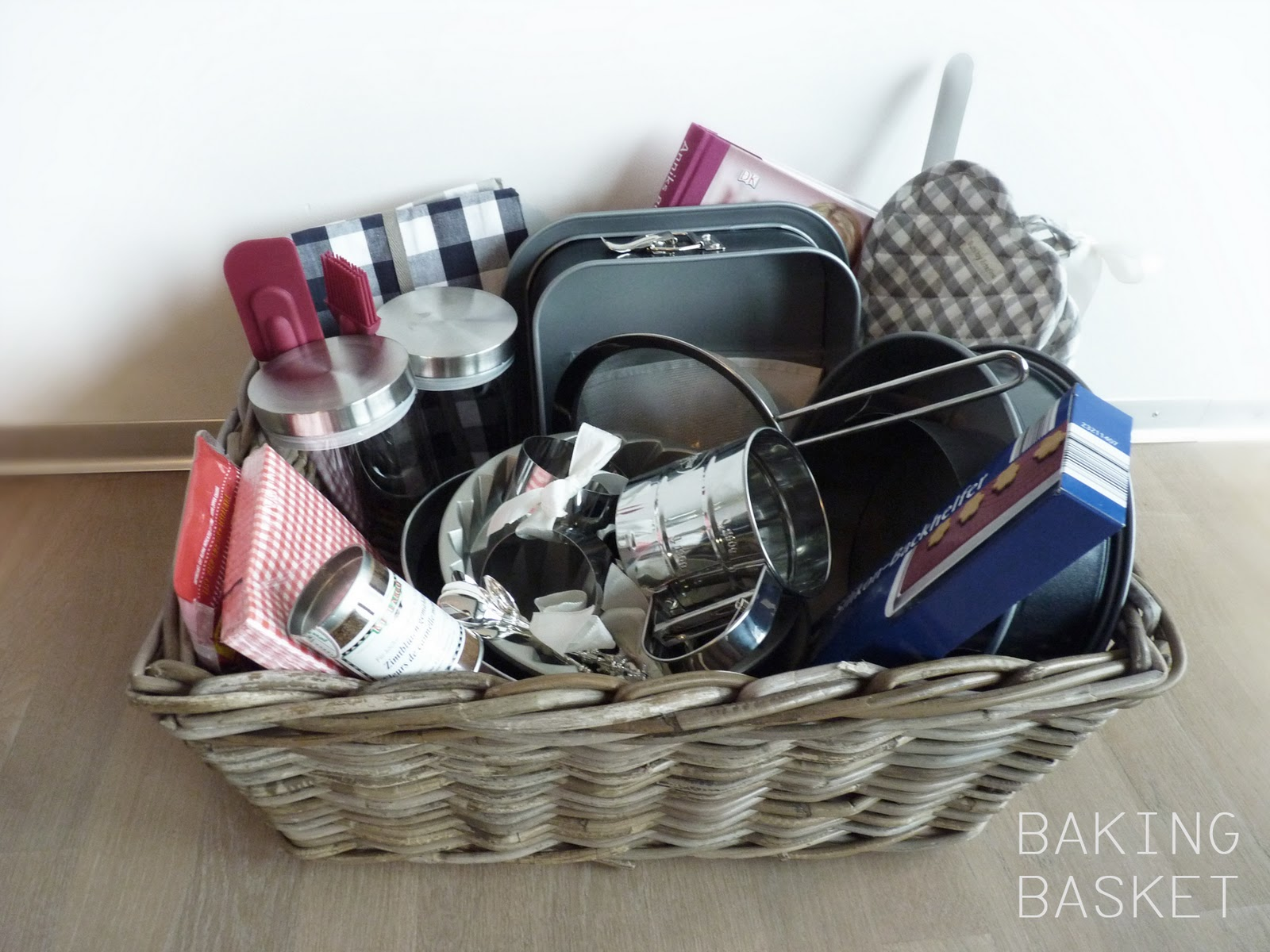 my mom gave me the most surprising and ridiculously perfect gift for my birthday a baking gift basket full of all the utensils the professional baker and ... & baking basket u2013 fork and flower