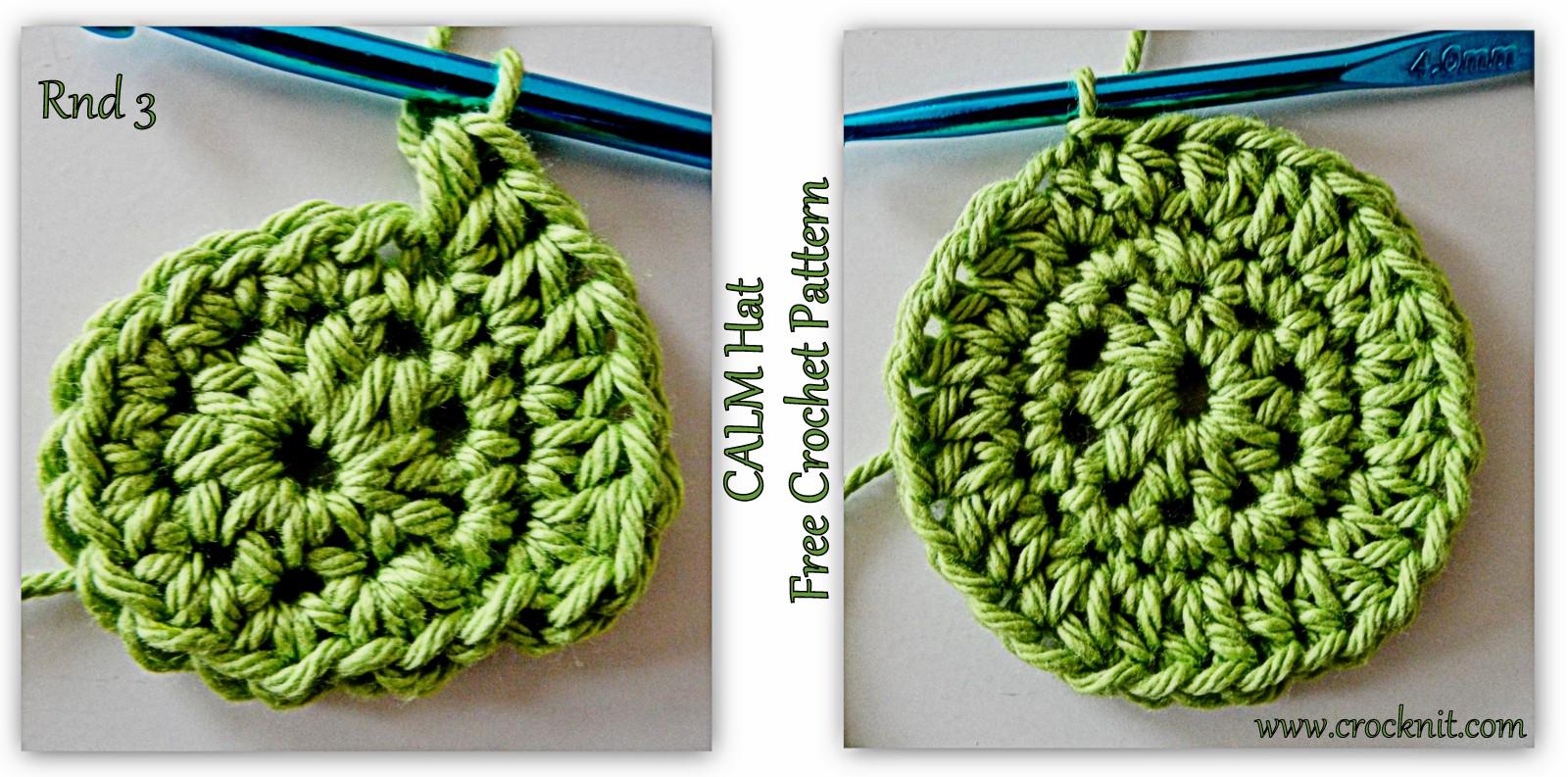 MICROCKNIT CREATIONS: SLEEP Hats Free Crochet Pattern #4 CALM HAT