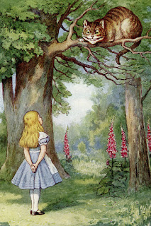 Alice asks the Cheshire cat