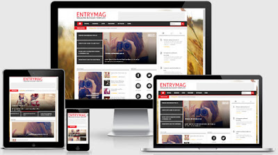 EntryMag versi 2.0 Majalah Responsive Blogger Template