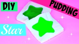 How to Make STAR Pudding Recipe Popin Cooking Toys