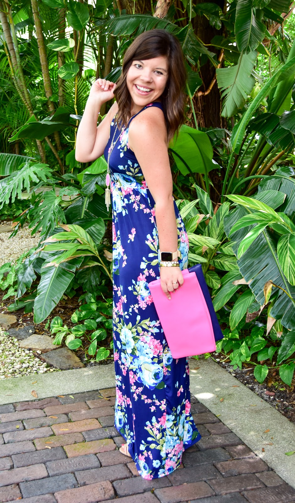 Southern Summer: Mint Julep Boutique Floral Maxi Dress