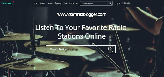 Escucha radios online en TuneYou