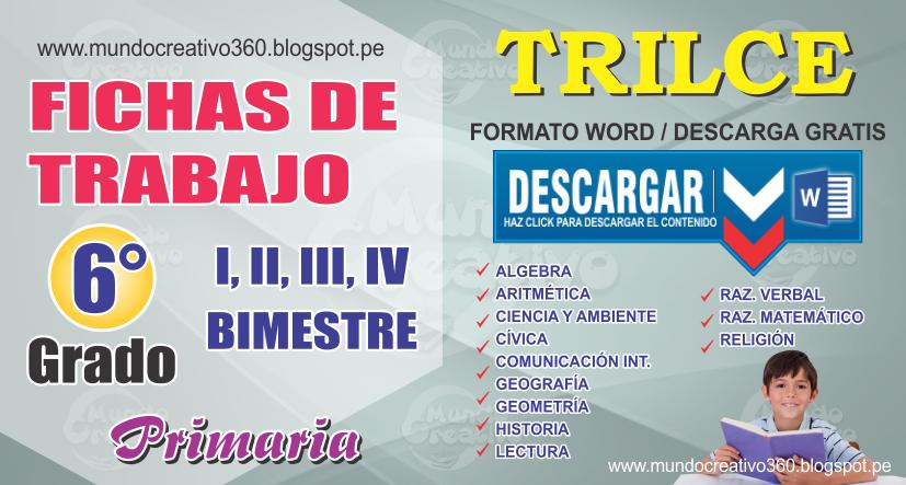 FICHAS DE TRABAJO TRILCE 6to. GRADO - Mundo creativo360
