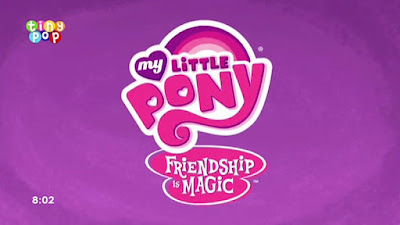 MLP title screen with Tiny Pop logo