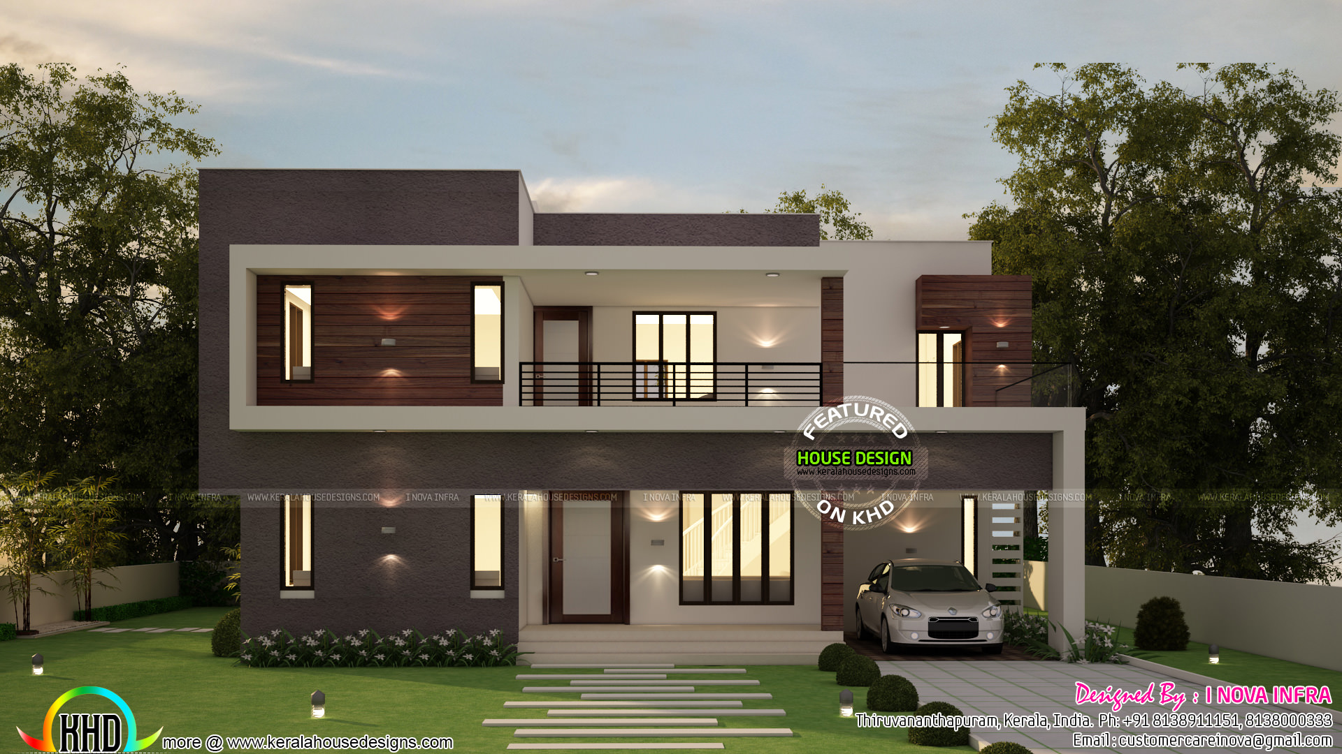 4 bedroom flat roof contemporary 2300 sq-ft - Kerala home ...