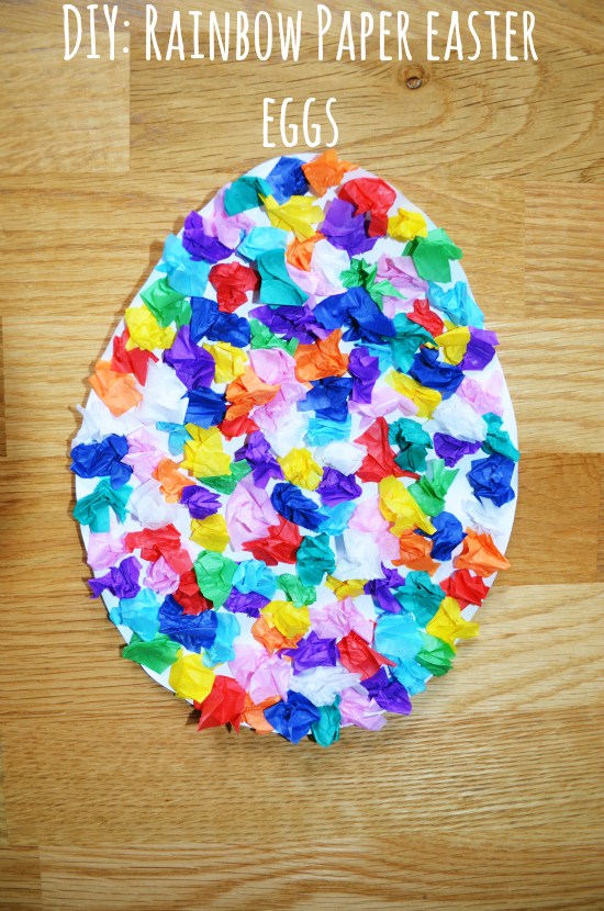 DIY: Rainbow Paper Easter Eggs