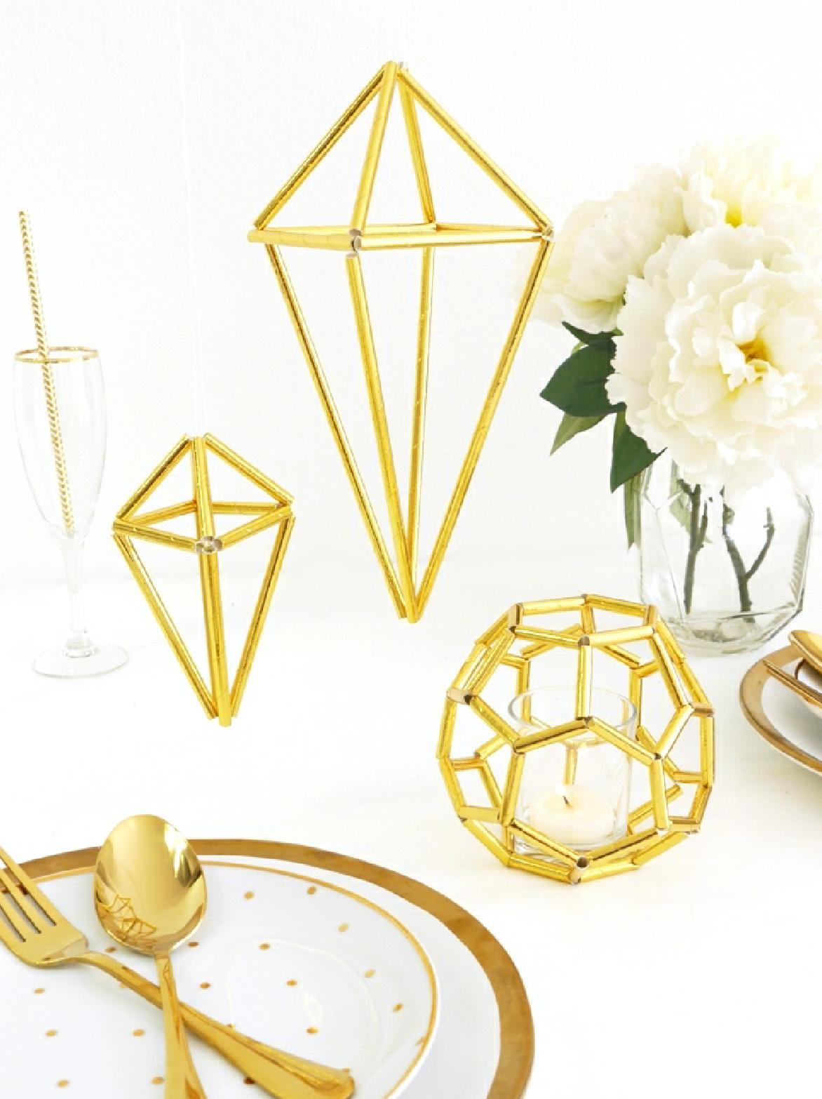 DIY Décorations Himmeli Géometriques