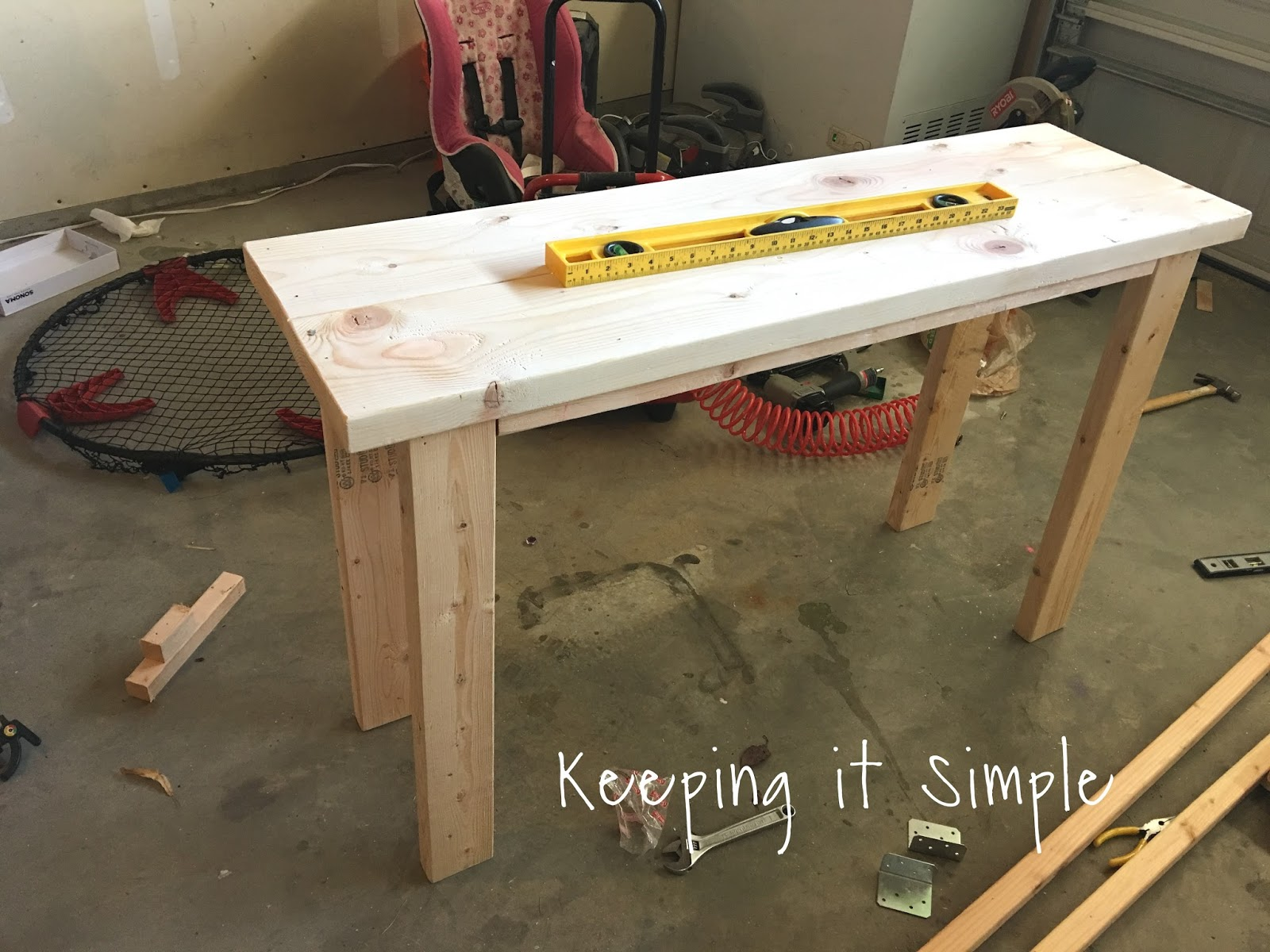 Keeping it Simple How to Build a Sofa Table for ly $30