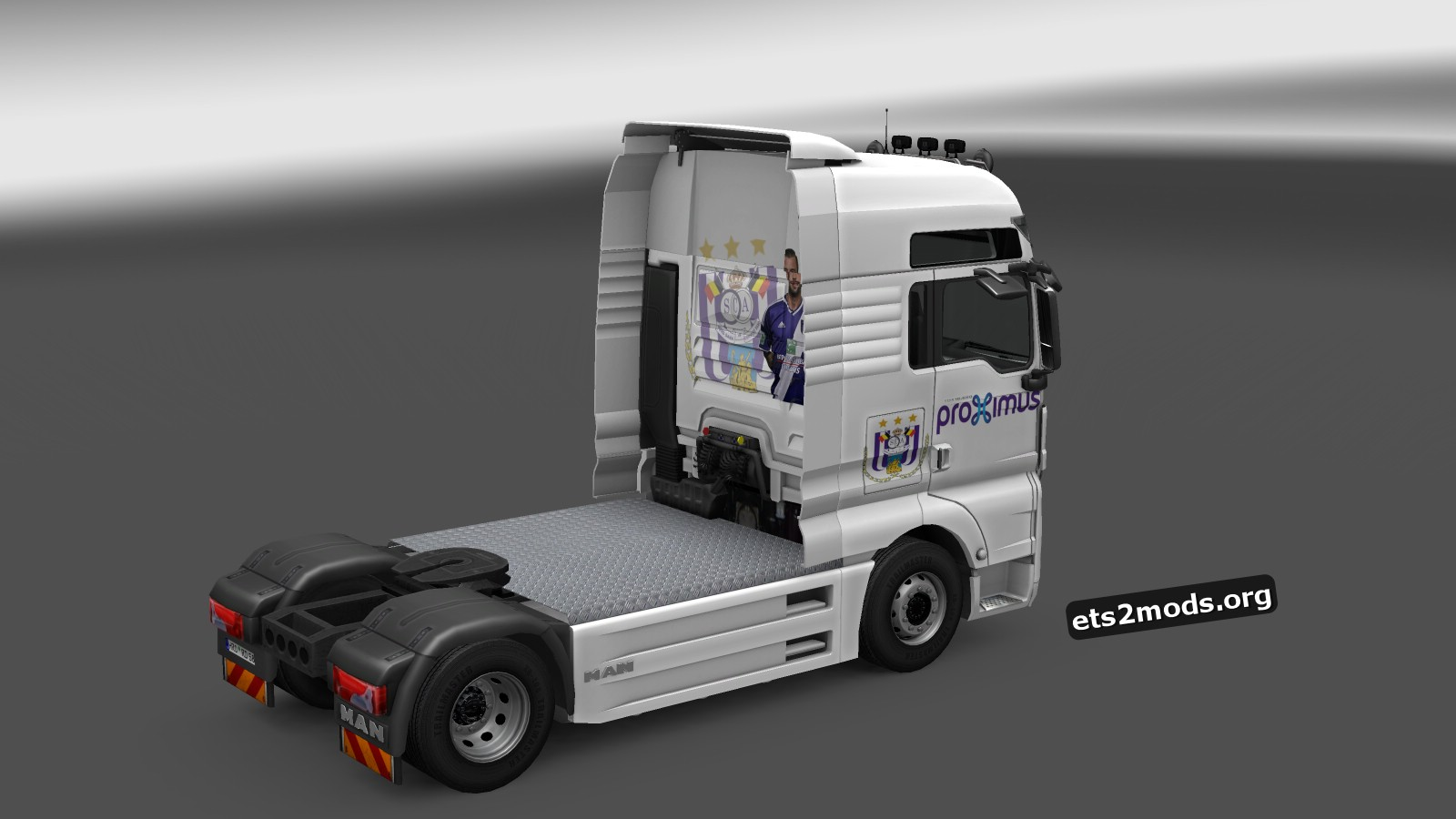 RSCA Anderlecht Skins for MAN TGX and Volvo 2012