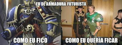 Eu de armadura futurista