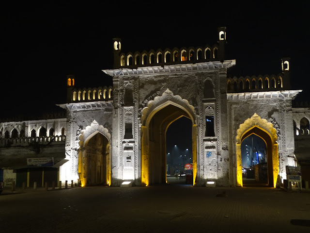 Rumi Darwaza at night