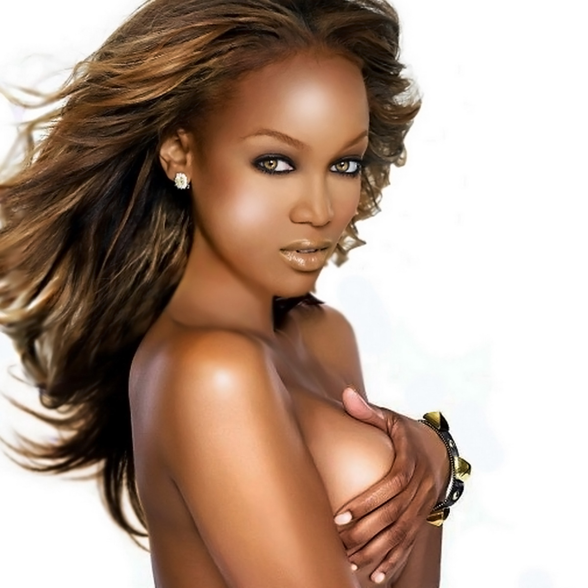 Tyra banks half naked 3