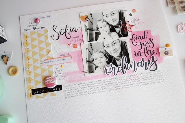 "scrapbooking layout ""ordinary"" by kushi per Storie di timbri, carte e... | www.kkushi.com"