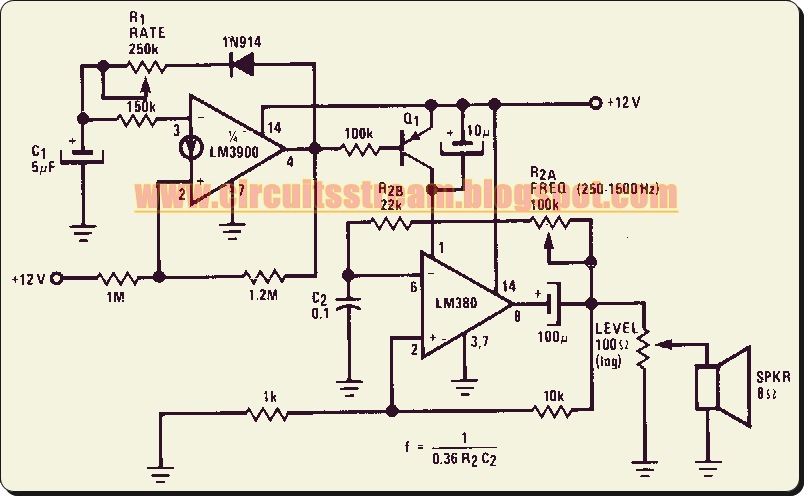 Programmable Siren Circuit Diagram With on simple alarm circuit diagram