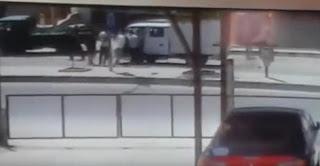 شاهدد  بالفيديو  لحظة وقوع حادث دهس خلال مضاربة جماعية بالأردن