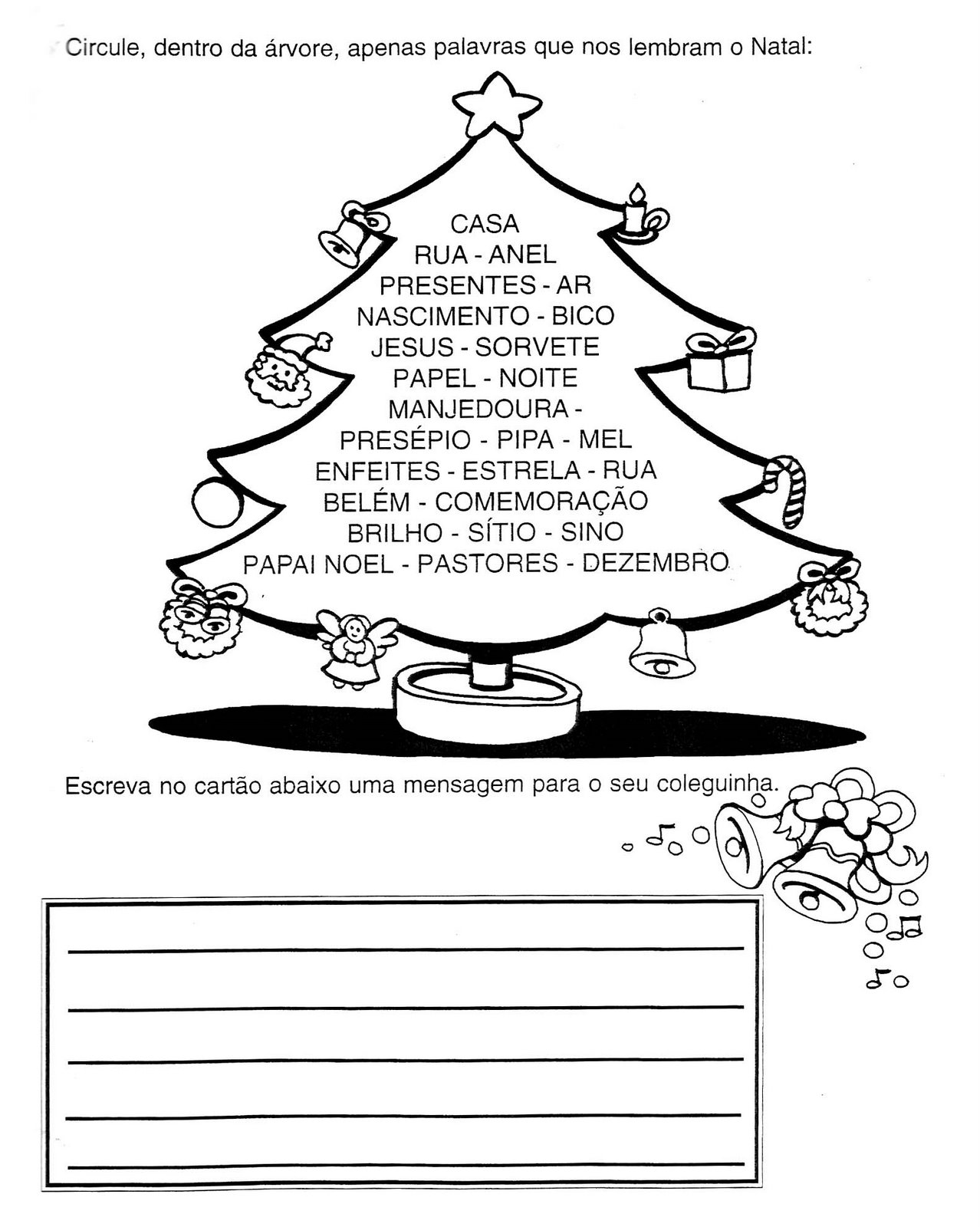 Adoleta Do Abc Atividades De Natal Alfabetizacao De 1º Ano