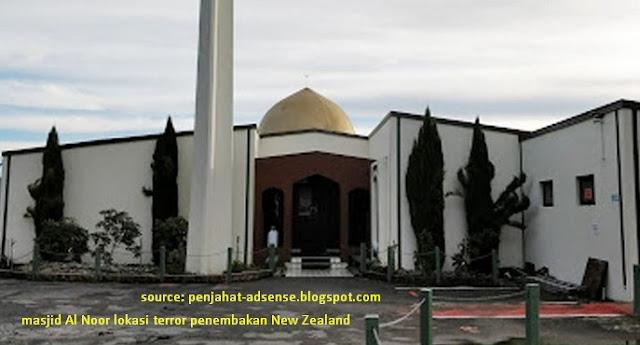 masjid Al Noor lokasi terror new zealand