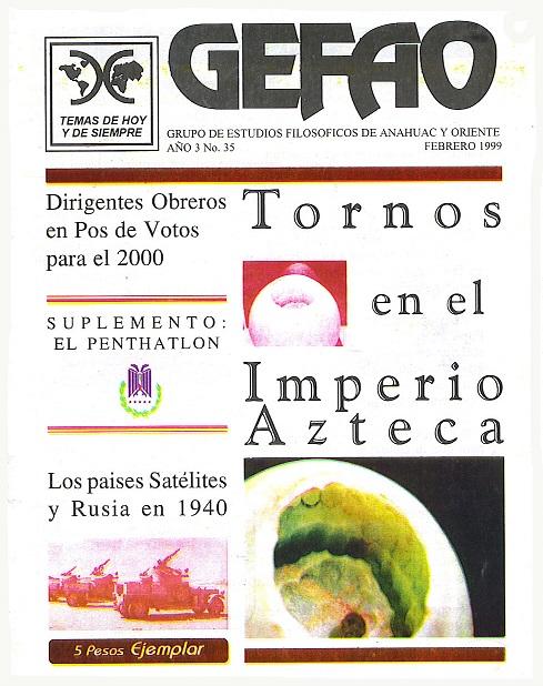 Revista GEFAO Tornos en el Imperio Azteca