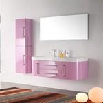 ensemble salle de bain rose pastel tendance