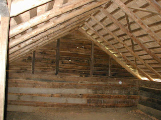 The upstairs sleeping area, typically just the sons slept upstairs.