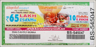 Bhagyanidhi Kerala Lottery Prize Structure