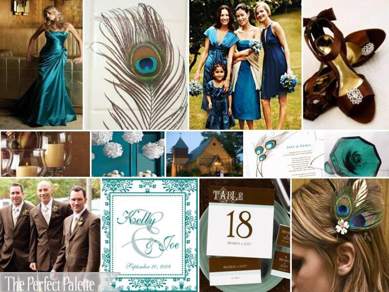 Chocolate And Teal Wedding Reception: Currituck Club Weddings: September 2012