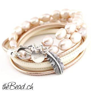 Perlenarmbänder und Wickelarmbänder mit Echtperlen von thebead