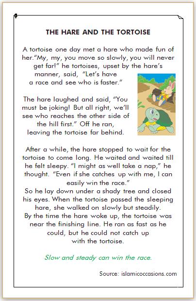 dongeng bahasa inggris kelinci dan kura-kura
