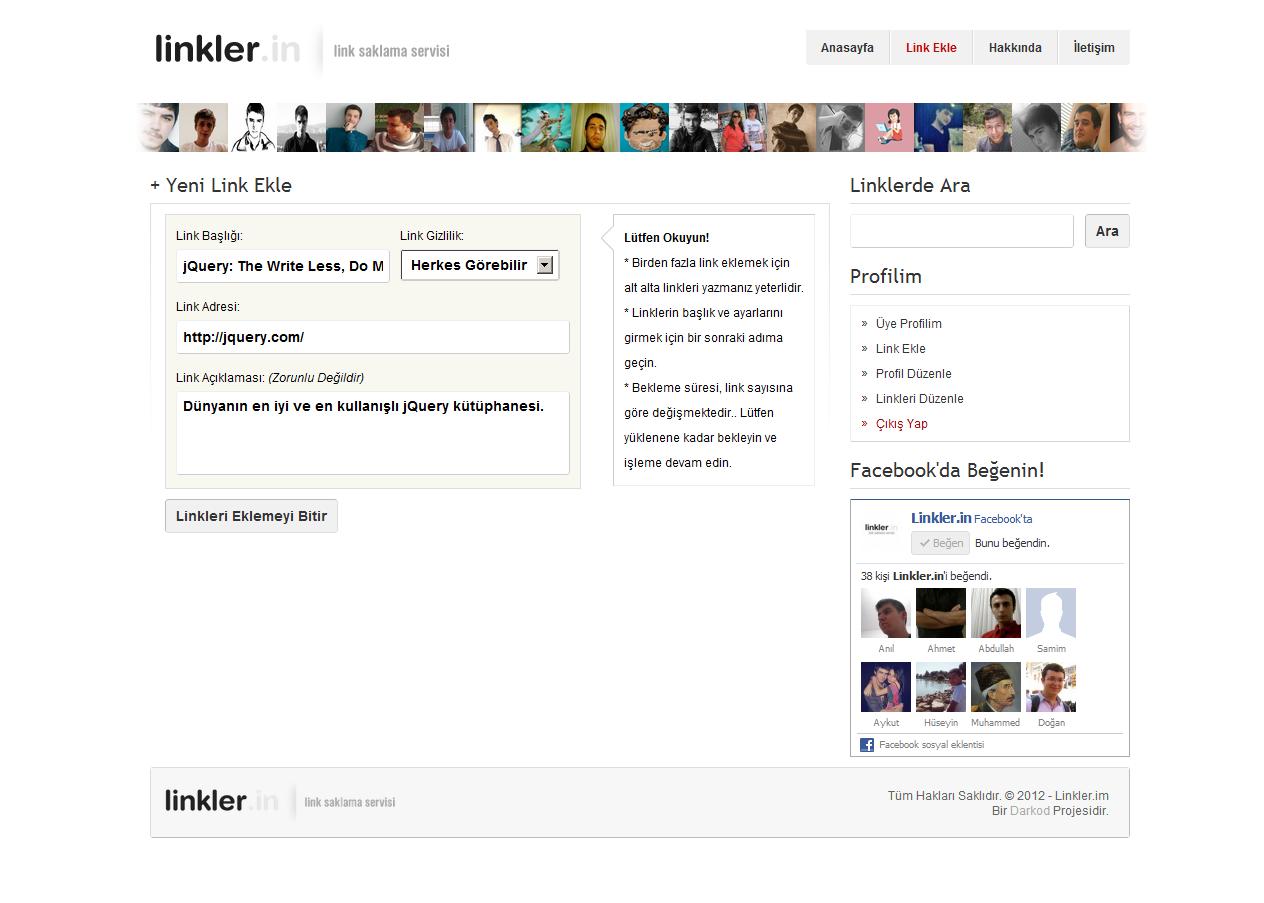 Yeni Projem - Linkler.in