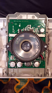 Low frequency sounder internal view speaker cone