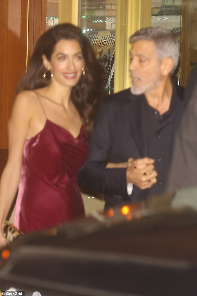 Amal and George Clooney attend Jennifer Aniston's 50th birthday