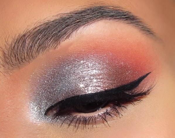 Fire Amp Ice Eye Makeup Ideas For Glitter Eyes Makeup