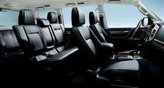 Mitsubishi Pajero Interiors specs ( cabin lamps, floor box, tonneau cover)