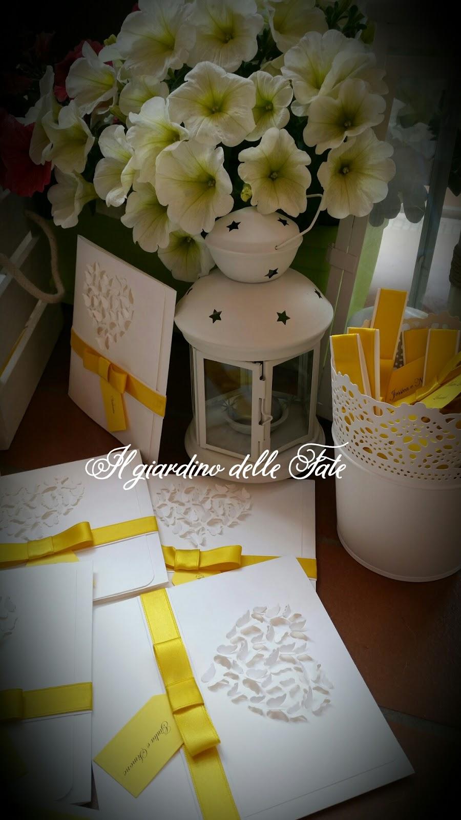 Matrimonio In Giallo E Bianco : Il giardino delle fate ❤❤creazioni ❤: matrimonio in giallo