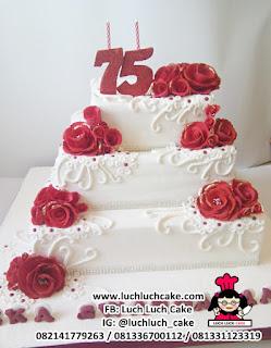 Kue Tart Ulang Tahun Tingkat ke-75 Tahun