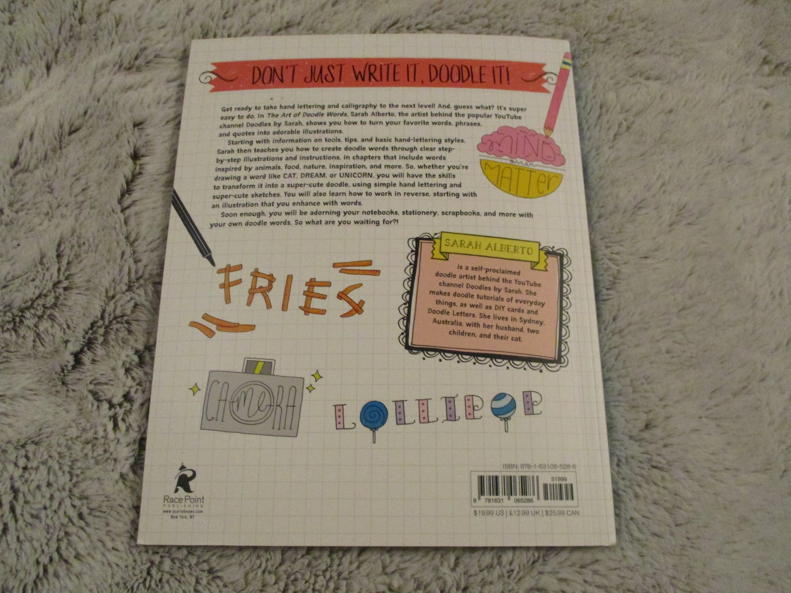 Missys Product Reviews The Art Of Doodle Words By Sarah Alberto
