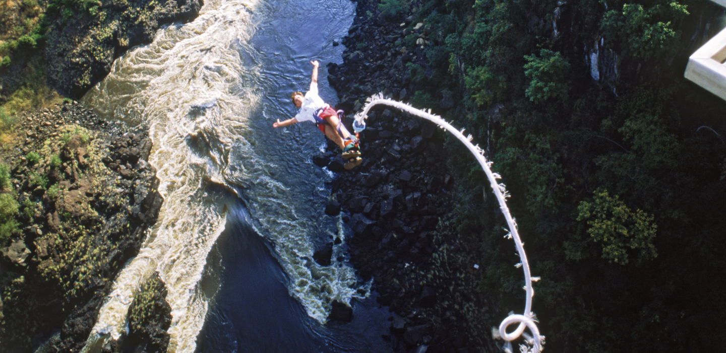 Bungee jumping from Vic falls is Zim's most famous tourist activity