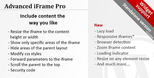 Advanced iFrame Pro v7.5 – WordPress Plugin