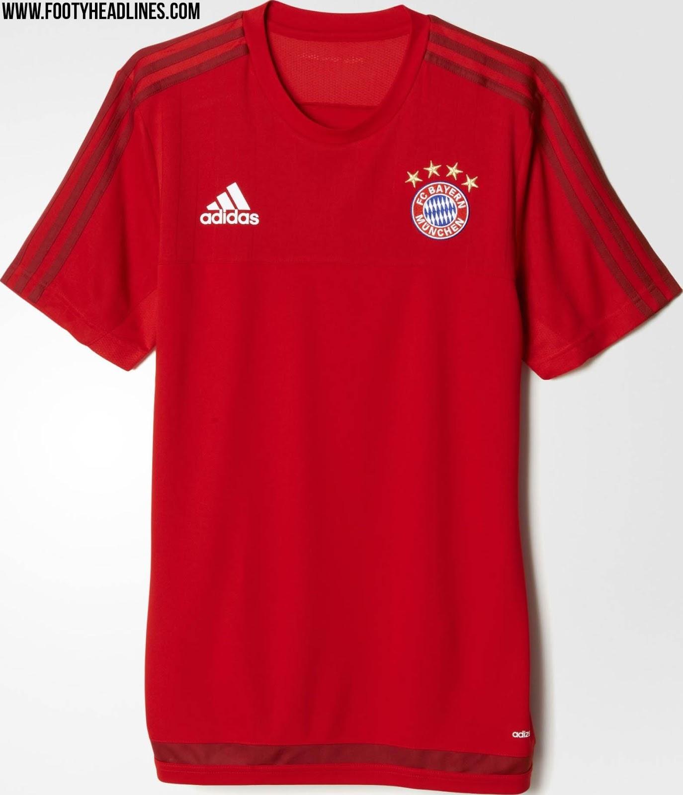 Fc Bayern M Nchen 15 16 Training Shirts Revealed Footy