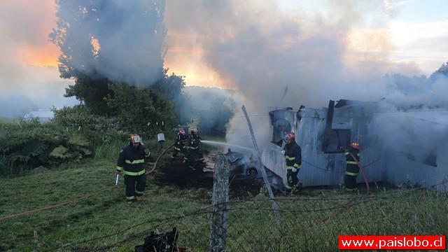 Incendio destruye vivienda al interior de fundo de la comuna de Puerto Octay