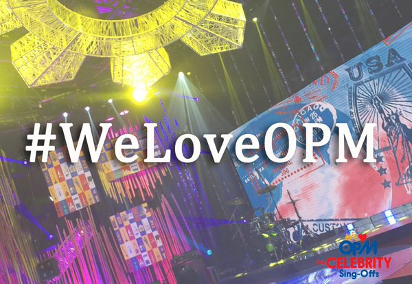 Celebrity contestants, teams of 'We Love OPM'