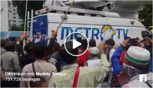 Video Detik Detik Metro TV Di Usir Oleh Massa Aksi Bela Islam Karena Selama Ini Di Anggap Tidak Kredibel Dan Selalu Menjelekkan Islam