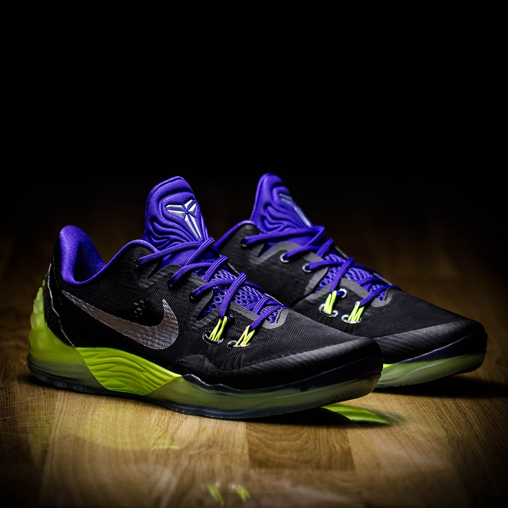info for 5391e d7d5a Here is a dope colorway of the Nike Zoom Kobe Venomenon 5. Sporting a Joker  theme of purple and green, I think the last time I saw this color scheme  was on ...