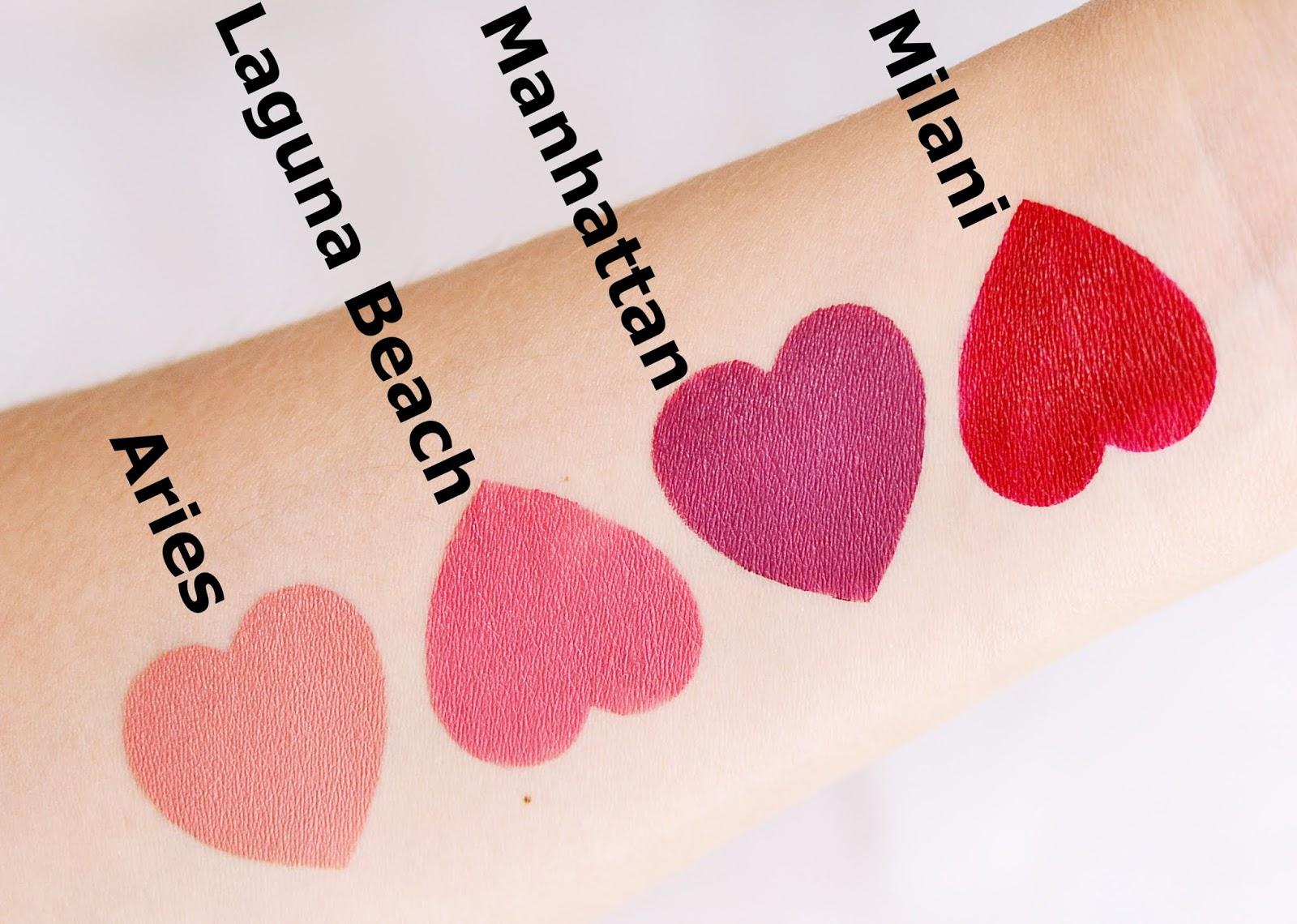 ofra cosmetics matte liquid lipstick rozświetlacze