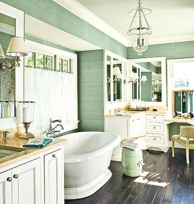 rustic green bathroom design ideas | Vintage Farmhouse: Farmhouse Bathroom