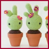 Cactus bebé amigurumi