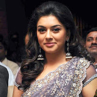 Hansika motwani in a light purple saree