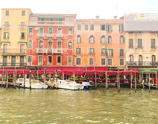 The colourful houses of Venice, Italy