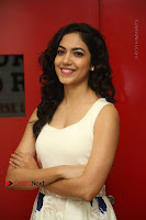 Actress Ritu Varma Stills in White Floral Short Dress at Kesava Movie Success Meet .COM 0063.JPG